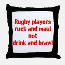 Ruck and maul Throw Pillow