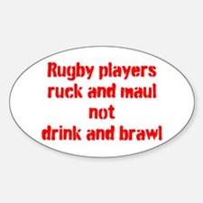 Ruck and maul Sticker (Oval)