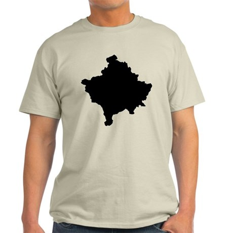 Kosovo Map Light T-Shirt