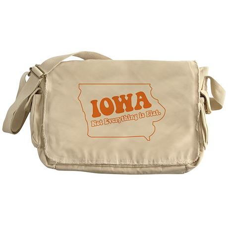 Flat Iowa State Messenger Bag