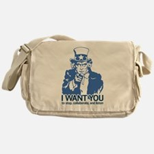 Stop Collaborate Listen Messenger Bag
