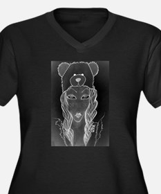 Funny Ghost busters Women's Plus Size V-Neck Dark T-Shirt