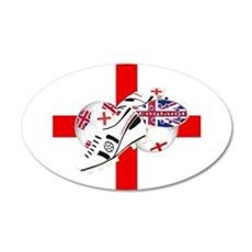 England Football Team 22x14 Oval Wall Peel