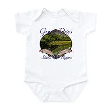 Trout Fishing Infant Bodysuit