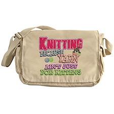 Knitting Kitten Messenger Bag