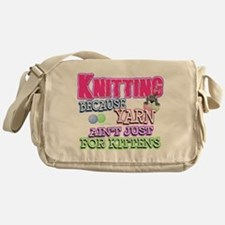 Knitting Kitten Messenger Bag