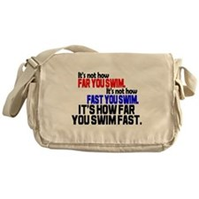 Swim Fast Messenger Bag