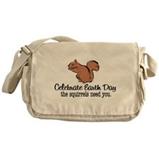 Earth Day Squirrels Messenger Bag