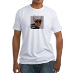 BIKERS ROCK Fitted T-Shirt