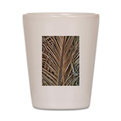 Dried Palm Fronds Shot Glass