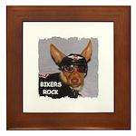 BIKERS ROCK Framed Tile