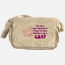 Bitched at by a Cat Messenger Bag