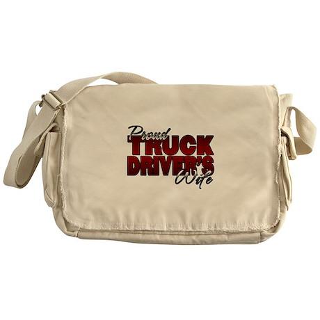 Proud Truckers Wife Messenger Bag