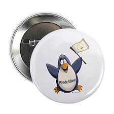 "Rhode Island Penguin 2.25"" Button"