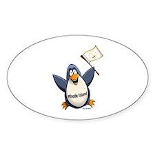 Rhode Island Penguin Decal