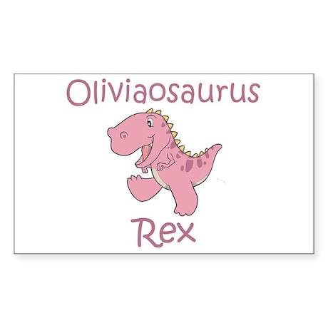 Oliviaosaurus Rex Sticker (Rectangle)