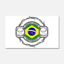 Brazil Softball Car Magnet 20 x 12