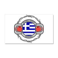 Greece Boxing Car Magnet 20 x 12