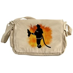 Firefighter Flames Messenger Bag