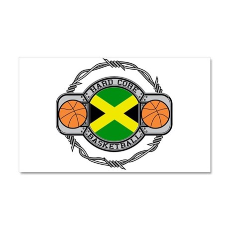 Jamaica Basketball Car Magnet 20 x 12