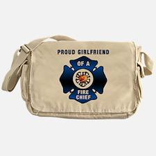 Fire Chief Proud Girlfriend Messenger Bag