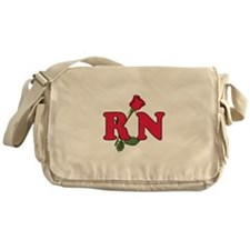 RN Nurses Rose Messenger Bag
