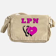 LPN Nurses Care Messenger Bag