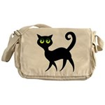 Cat With Green Eyes Messenger Bag