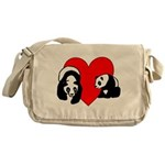 Panda Bear Love Messenger Bag