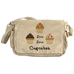 Live Love Cupcakes Messenger Bag