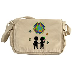 Earth Day Recycle Messenger Bag