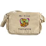 My First Thanksgiving Messenger Bag