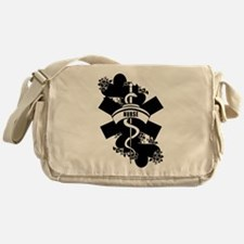 Nurse Heart Tattoo Messenger Bag