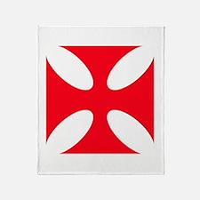 templar cross Throw Blanket
