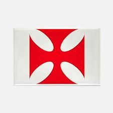 templar cross Rectangle Magnet