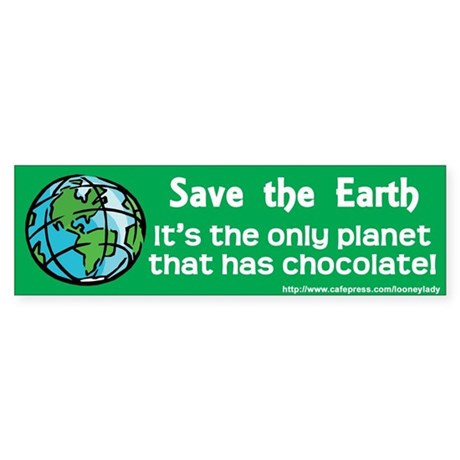 Chocolate Ecology Bumper Sticker