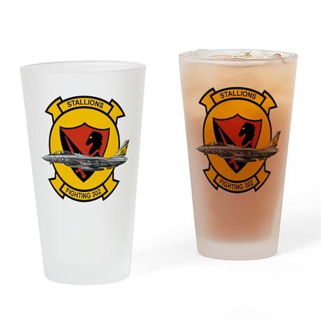 VF-302 Stallions Drinking Glass