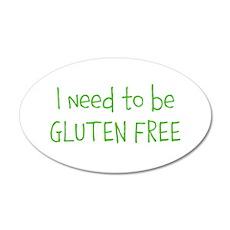 Gluten free 22x14 Oval Wall Peel