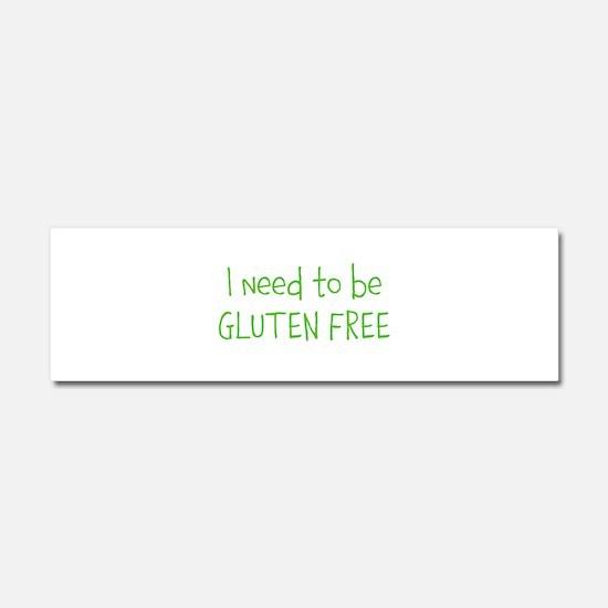 Gluten free Car Magnet 10 x 3