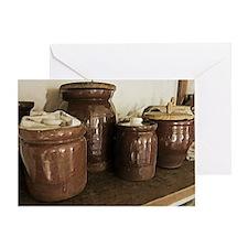 Antique Ceramic Jars Greeting Card
