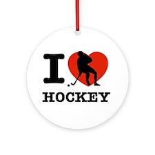 I love Hockey Ornament (Round)