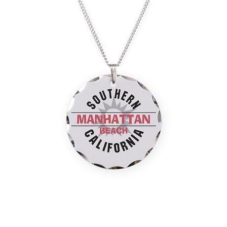 Manhattan Beach CA Necklace Circle Charm