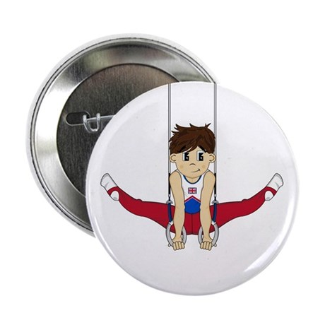"Cute Gymnast 2.25"" Button (10 Pk)"