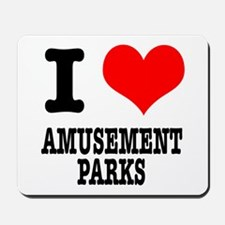 I Heart (Love) Amusement Park Mousepad