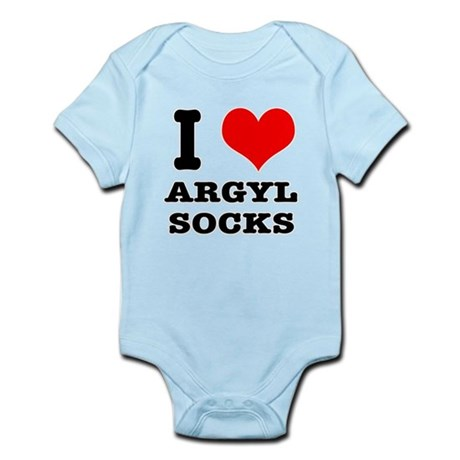 I Heart (Love) Argyl Socks Infant Bodysuit