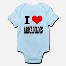 I Heart (Love) Armadillos Infant Bodysuit