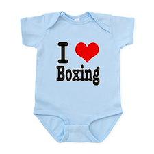 I Heart (Love) Boxing Infant Bodysuit
