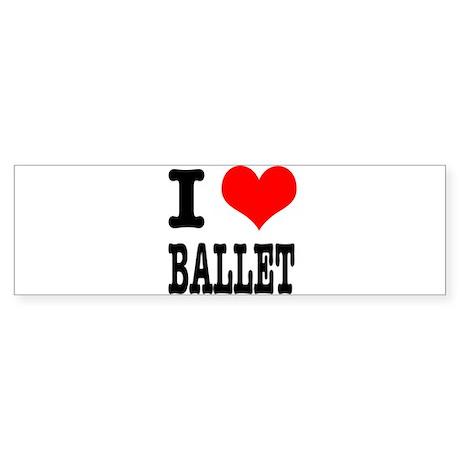 I Heart (Love) Ballet Sticker (Bumper 50 pk)