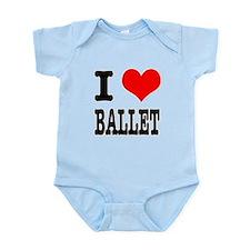 I Heart (Love) Ballet Infant Bodysuit