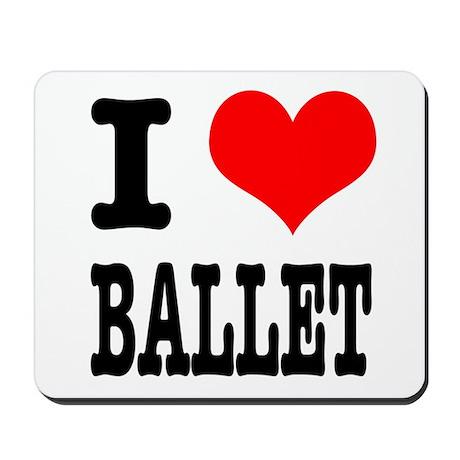 I Heart (Love) Ballet Mousepad